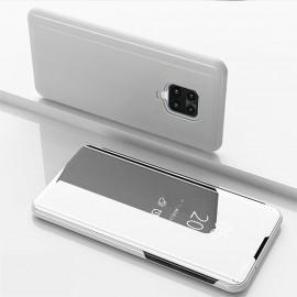 Etuis Xiaomi Redmi Note 9 Pro smart Cover Gris Argent