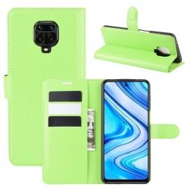 Etuis Portefeuille Xiaomi Redmi Note 9 Pro Simili Cuir Vert