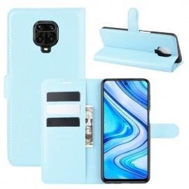 Etuis Portefeuille Xiaomi Redmi Note 9 Pro Simili Cuir Bleu