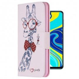 Etuis Portefeuille Redmi Note 9 Pro Simili Cuir Girafe