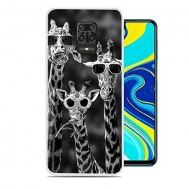 Coque Xiaomi Redmi Note 9 Pro Girafes Silicone