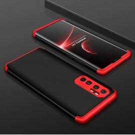 Coque 360 Xiaomi Mi Note 10 Lite Noire et Rouge