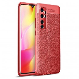 Coque Xiaomi Mi Note 10 Lite Tpu Cuir 3D Rouge