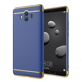 Coque Huawei Mate 10 Rigide Chromé Bleue
