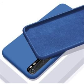 Coque Silicone Xiaomi Mi Note 10 Lite Soyeuse Bleue