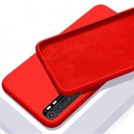 Coque Silicone Xiaomi Mi Note 10 Lite Soyeuse Rouge