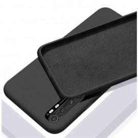 Coque Silicone Xiaomi Mi Note 10 Lite Soyeuse Noire