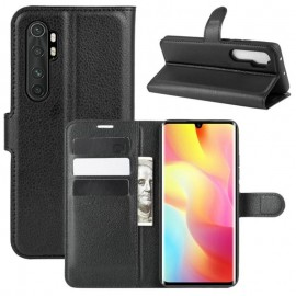 Etuis Portefeuille Xiaomi Mi Note 10 Lite Simili Cuir Noir