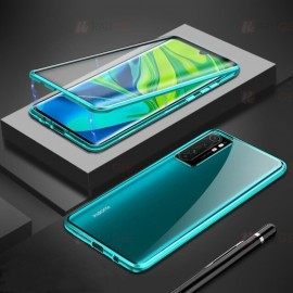 Coque double Xiaomi Mi Note 10 Lite Magnetique Verte