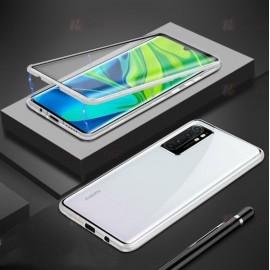 Coque double Xiaomi Mi Note 10 Lite Magnetique Argent