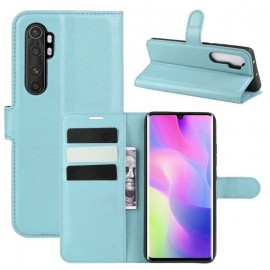 Etuis Portefeuille Xiaomi Mi Note 10 Lite Simili Cuir Bleu