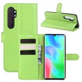 Etuis Portefeuille Xiaomi Mi Note 10 Lite Simili Cuir Vert