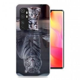 Coque Xiaomi Mi Note 10 Lite Chat Miroir Silicone