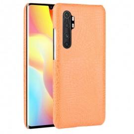 Coque Xiaomi Mi Note 10 Lite Orange Crocodile 3D