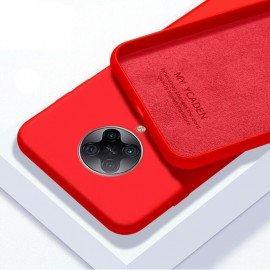 Coque Pocophone F2 Pro Silicone Liquide Rouge