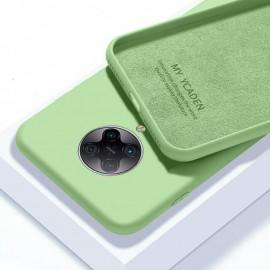 Coque Pocophone F2 Pro Silicone Liquide Verte