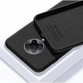 Coque Pocophone F2 Pro Silicone Liquide Noire