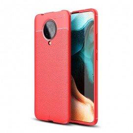 Coque Pocophone F2 Pro Tpu Cuir 3D Rouge