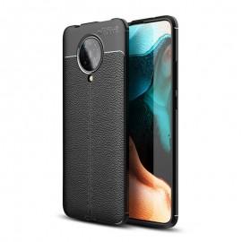 Coque Pocophone F2 Pro Tpu Cuir 3D Noire