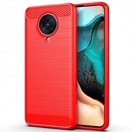 Coque Pocophone F2 Pro Tpu Carbone 3D Rouge
