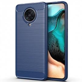 Coque Pocophone F2 Pro Tpu Carbone 3D Bleue