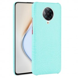 Coque Pocophone F2 Pro Cuir Turquoise