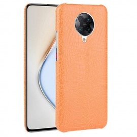 Coque Pocophone F2 Pro Cuir Orange