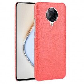 Coque Pocophone F2 Pro Cuir Rouge