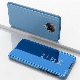 Etuis Pocophone F2 Pro Miroir Smart Bleu