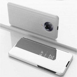 Etuis Pocophone F2 Pro Miroir Smart Gris Argent