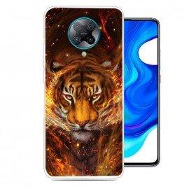 Coque Xiaomi Pocophone F2 Pro Tigre en Flammes TPU