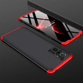 Coque 360 Xiaomi Redmi Note 10 PRO Noire et Rouge