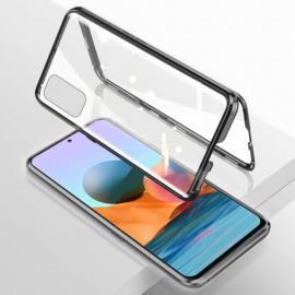 Coque double Xiaomi Redmi Note 10 PRO Aluminium Magnetique Noire