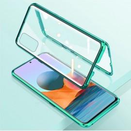 Coque double Xiaomi Redmi Note 10 PRO Aluminium Magnetique Verte