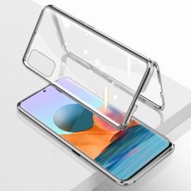 Coque double Xiaomi Redmi Note 10 PRO Aluminium Magnetique Argent