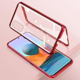 Coque double Xiaomi Redmi Note 10 PRO Aluminium Magnetique Rouge