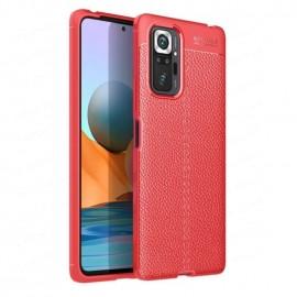 Coque Xiaomi Redmi Note 10 Pro TPU Cuir 3D Rouge