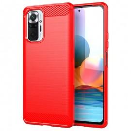 Coque Xiaomi Redmi Note 10 Pro TPU Carbone Rouge