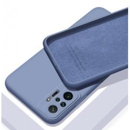 Coque Silicone Redmi Note 10 Pro Soyeuse Bleue