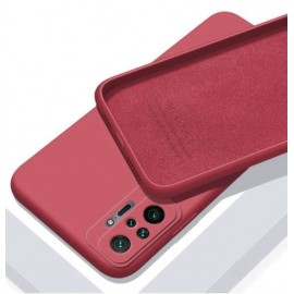 Coque Silicone Redmi Note 10 Pro Soyeuse Rouge