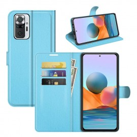 Etuis Portefeuille Xiaomi Redmi Note 10 Pro Cuir Bleu