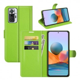 Etuis Portefeuille Xiaomi Redmi Note 10 Pro Cuir Vert