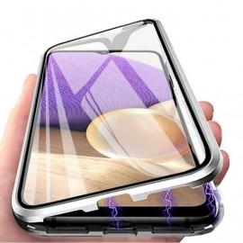 Coque complète Samsung Galaxy A22 Metal Magnetique Grise