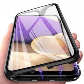 Coque complète Samsung Galaxy A22 en aluminium Magnetique noire