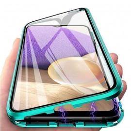 Coque complète Samsung Galaxy A22 Metal Magnetique Verte
