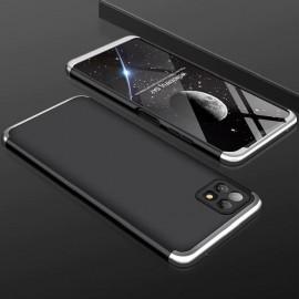 Coque 360 Samsung Galaxy A22 Noire et Grise Premium