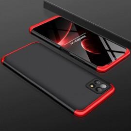 Coque 360 Samsung Galaxy A22 Noire et Rouge Premium