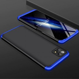 Coque 360 Samsung Galaxy A22 Noire et Bleue Premium