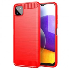 Coque Samsung Galaxy A22 Brossé Rouge