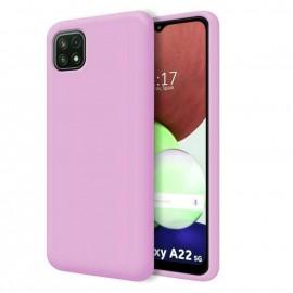 Coque Soyeuse Samsung Galaxy A22 Rose